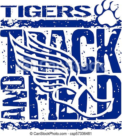 tigers track and field - csp57336481