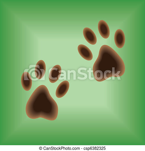Traces of paws - csp6382325