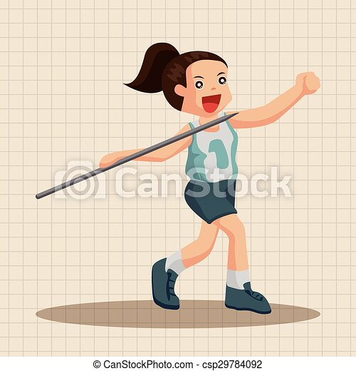 Track and field athletes theme elements - csp29784092