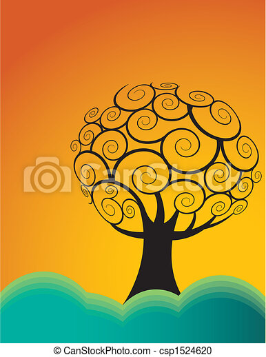 tree on a hill - csp1524620