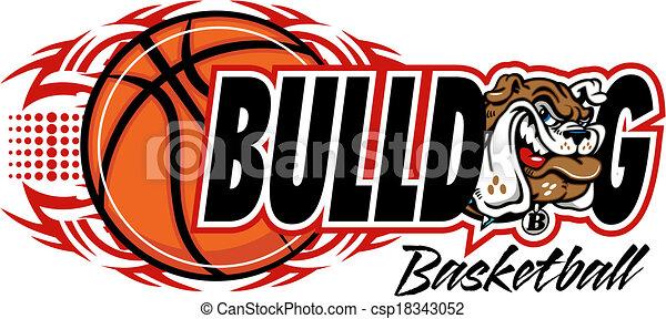 tribal basketball with bulldog - csp18343052