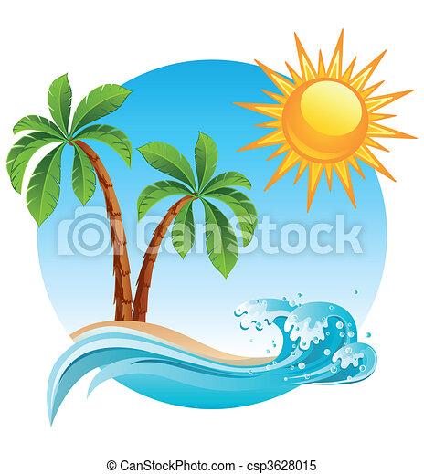 Tropical island - csp3628015