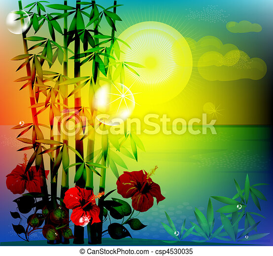 tropical landscape - csp4530035
