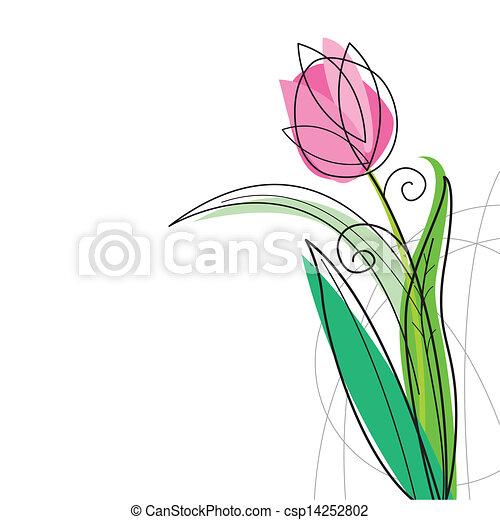 Tulip design on white background - csp14252802