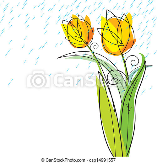 Tulips design on white background - csp14991557