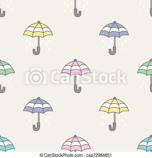 Umbrella Seamless Pattern rain vector isolated repeat wallpaper tile background - csp72984851