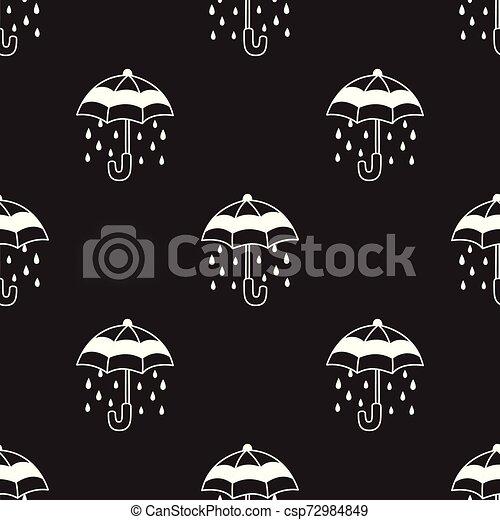 Umbrella Seamless Pattern rain vector isolated repeat wallpaper tile background doodle illustration - csp72984849