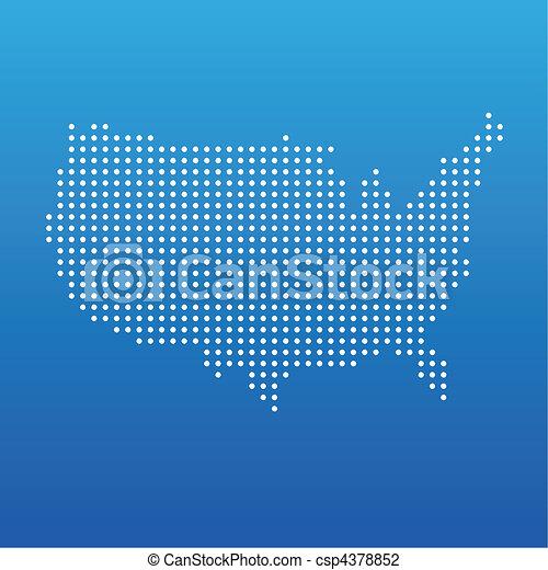 United states dot map - csp4378852