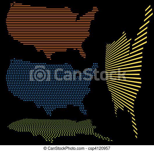 United States Map Set - csp4120957