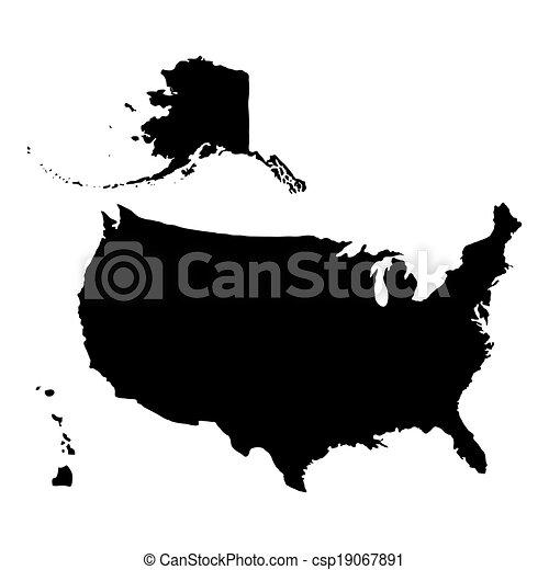 United States of America Map - csp19067891
