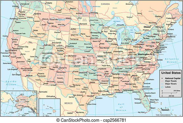 United States of America map - csp2566781