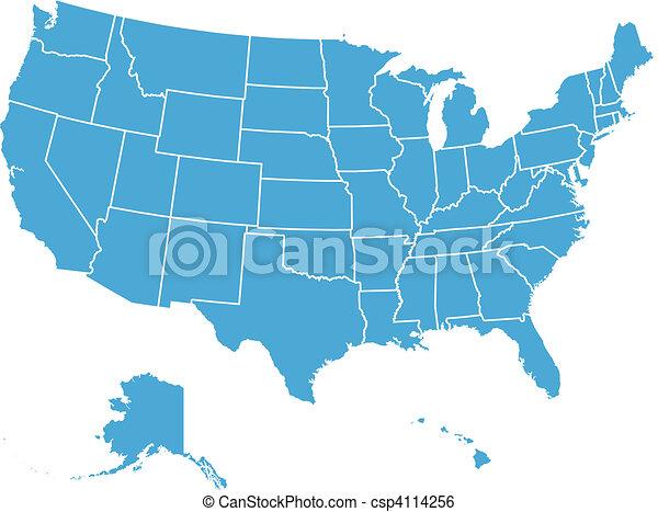 United States Vector Map - csp4114256