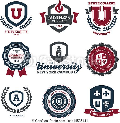 University and college crests - csp14535441