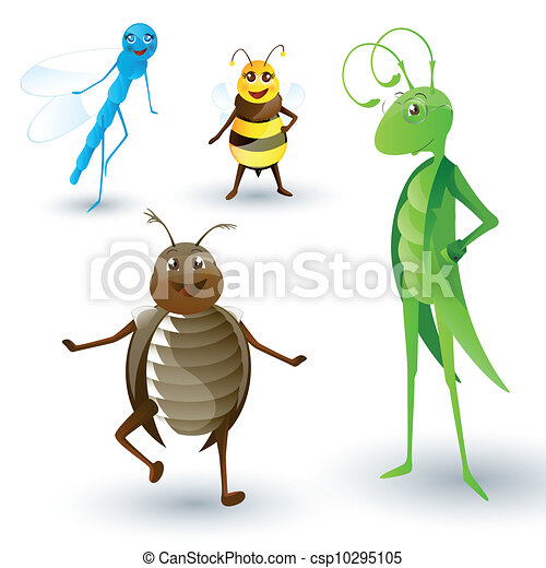 Vector Cartoon Insects - csp10295105