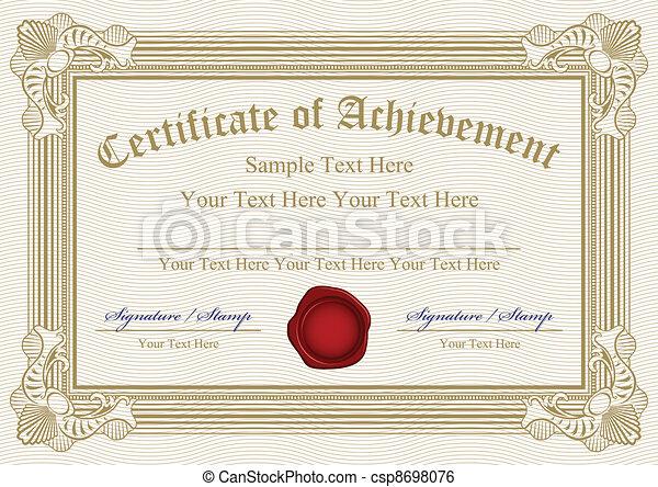 Vector certificate of achievement w - csp8698076