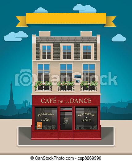Vector European cafe XXL icon - csp8269390