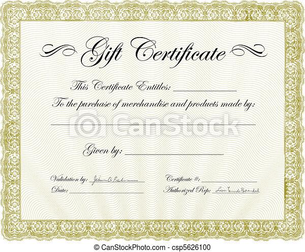 Vector Gift Certificate Frame - csp5626100