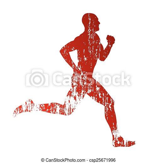 Vector grungy runner - csp25671996