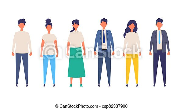 Vector illustration of People are standing. - csp82337900
