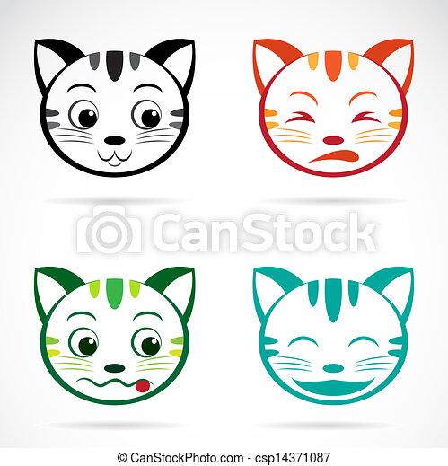 Vector image of an cat face - csp14371087
