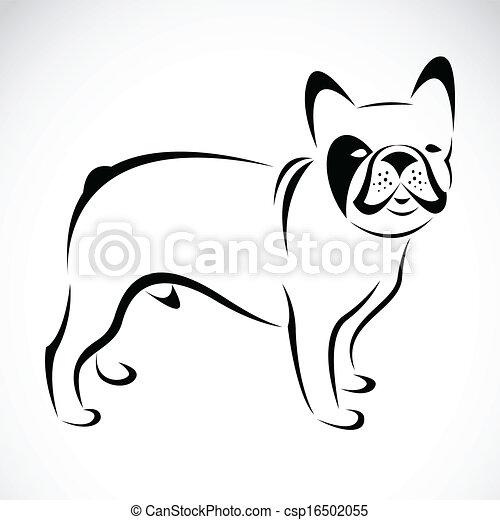 Vector image of an dog (bulldog) - csp16502055