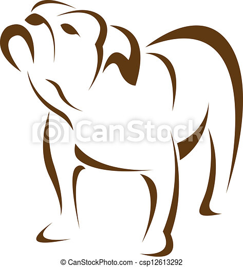 Vector image of an dog (bulldog) - csp12613292