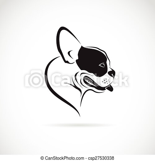 Vector image of an dog (bulldog) on white background - csp27530338