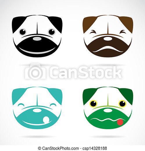 Vector image of an dog face - csp14328188