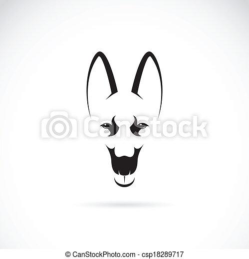 Vector image of an german shepherd face - csp18289717
