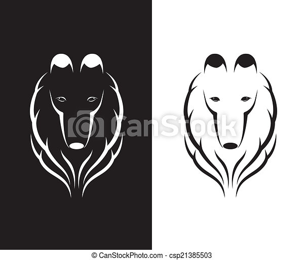 Vector images of shetland sheepdog head - csp21385503