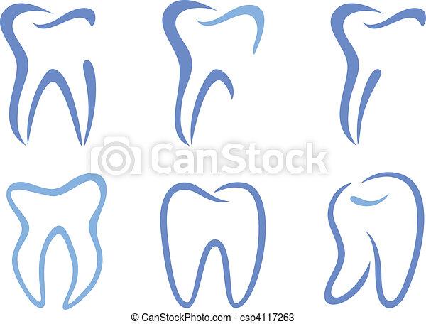 vector teeth - csp4117263
