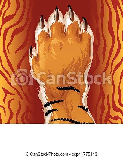 Vector tiger paw - csp41775143