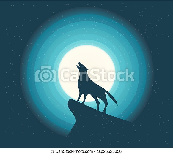 Vector. Wolf Howling - csp25625056
