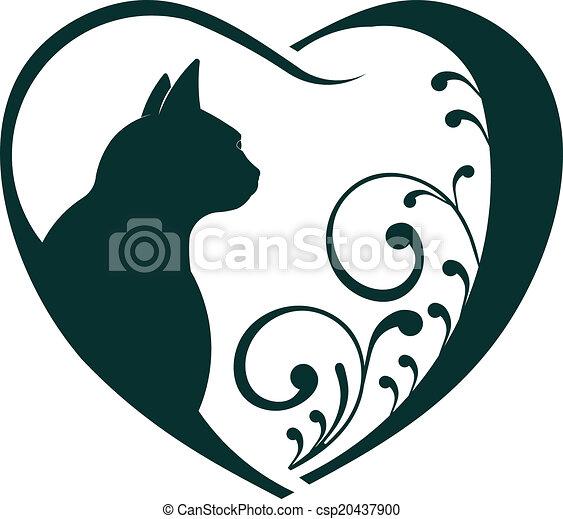 Veterinarian Heart cat love. - csp20437900