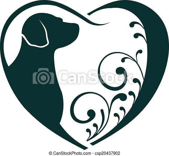 Veterinarian Heart dog love. - csp20437902