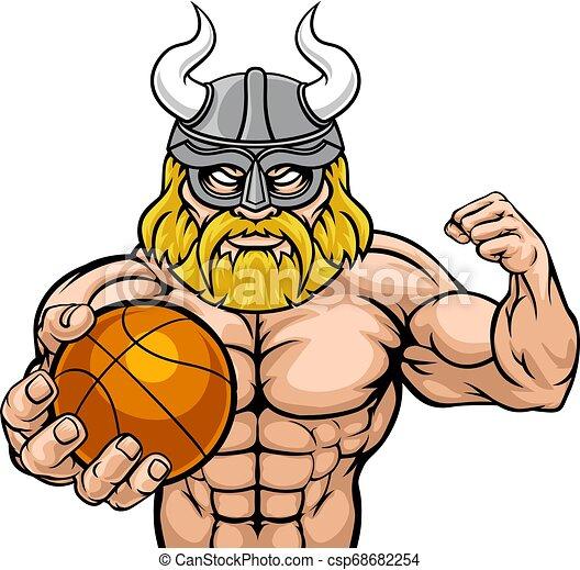 Viking Basketball Sports Mascot - csp68682254