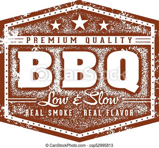 Vintage Barbecue BBQ Restaurant Sign - csp52995813