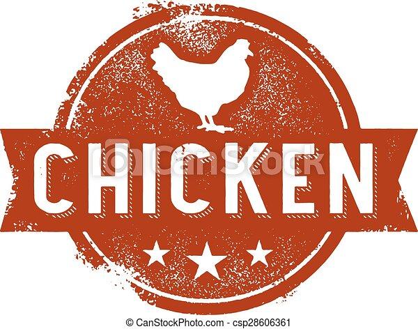 Vintage Chicken Sign - csp28606361