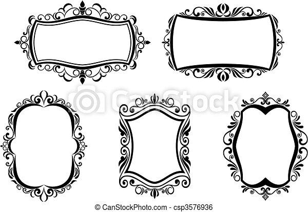 Vintage frames - csp3576936