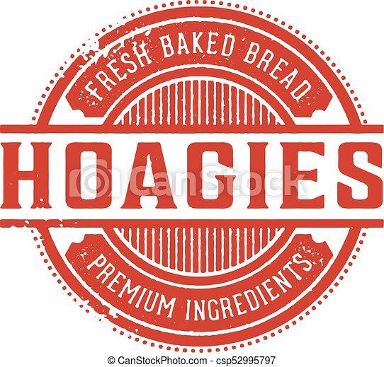 Vintage Hoagie Sandwich Sign - csp52995797