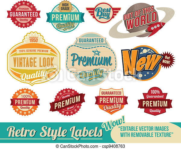 Vintage retro labels and tags - csp9408763