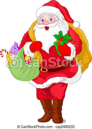 Walking Santa Claus - csp2495233