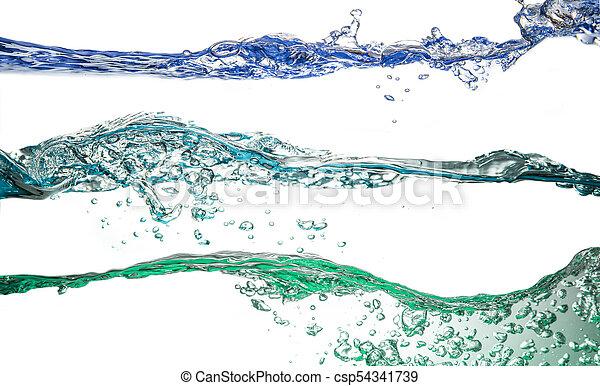 water splash collage in white background - csp54341739