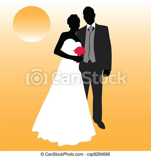 wedding couple - csp9284666