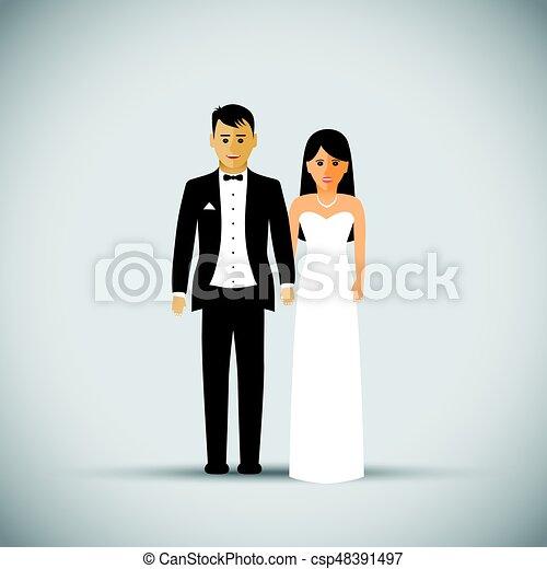Wedding couple - csp48391497