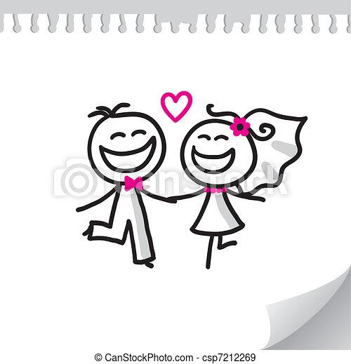 wedding couple - csp7212269