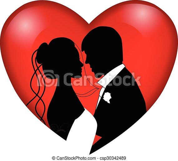 wedding couple - csp30342489