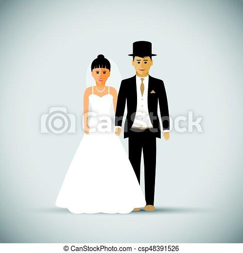 Wedding couple - csp48391526