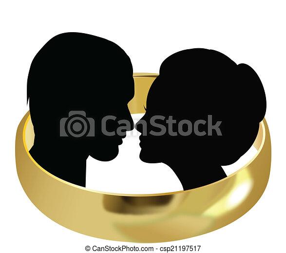 WEDDING COUPLE - csp21197517