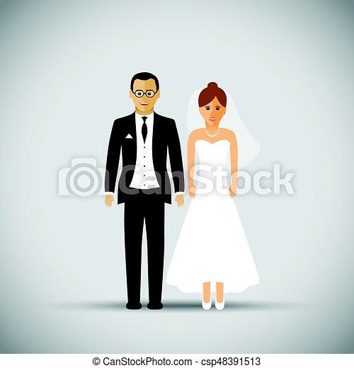 Wedding couple - csp48391513
